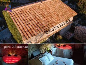 casita romántica con jacuzzi