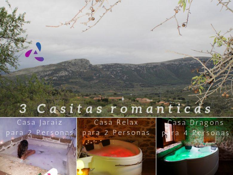casitas románticas con jacuzzi